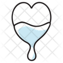 Dripping Heart Cardio Love Symbol Icon