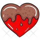 Dripping Heart Melting Heart Chocolate Heart Icon