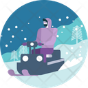 Drive Winter Motorcycle Icon