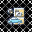 Drive Coffee Shop Icon