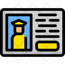 Driver id card Icon