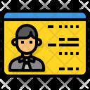 Driver License Id License Icon