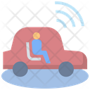 Driverless Car Technology Icon