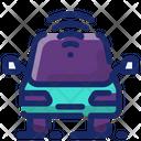 Driverless Car Intelligence Technology Icon