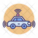 Driverless Car Wifi Card Remote Card Icon