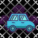 Driverless Car Wifi Card Remote Card Icon