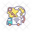 Driverless Delivery Service Icon