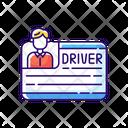 Drivers License Person Icon