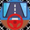 Steering Wheel Racing Game Icon