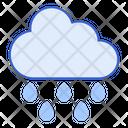 Drizzle Rain Fall Daytime Icon