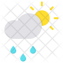 Drizzle Cloud Day Icon