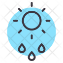 Drizzle Rainfall Rain Icon
