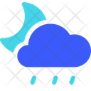 Drizzle Night Weather Cloud Icon