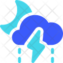 Drizzle Storm Night Weather Cloud Icon