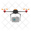 Camera Drone Delivery Icon