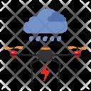 Cargo Drone Delivery Icon