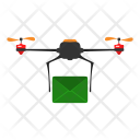 Mail Drone Delivery Icon