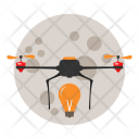 Moon Drone Delivery Icon