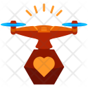 Heart Drone Icon