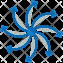 Multiple Arrows Drone Icon