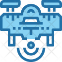 Drone Wireless Technology Icon