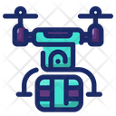 Drone Fly Technology Icon