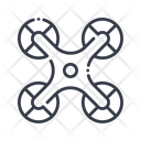 Drone Quadcopter Aircraft Icon