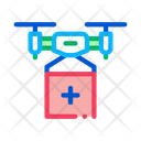 Drone Delivery Fly Icon
