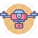 Drone Helicam Video Icon