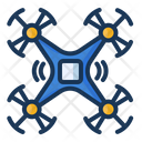 Quadcopter Drone Technology Icon