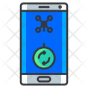 Mobile Phone Drone Icon