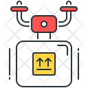 Drone Delivery Smart Icon