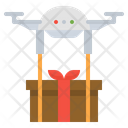 Drone Delivery Gift Icon