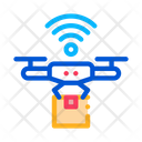 Flying Drone Internet Icon