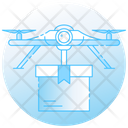 Drone Delivery Air Freight Air Logistics Icon
