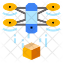 Airdrone Delivery Drone Icon