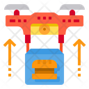 Drone Delivery Food Technology Transport Icon