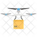 Drone Delivery Quadcopter Delivery Aerial Drone Icon