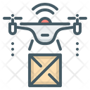 Box Delivery Drone Icon