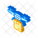 Drone Delivering Isometric Icon