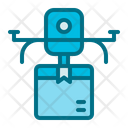 Drone Truck Delivery Icon