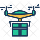 Delivery Drone Technology Icon