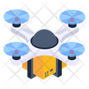 Drone Delivery Quadcopter Delivery Drone Parcel Icon
