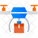 Drone Food Delivery Icon