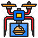 Drone Delivery Food Icon