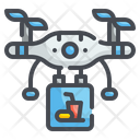 Drone Food Delivery Drone Delivery Drone Icon