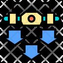 Move Down Drone Ai Icon