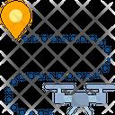 Drone Route Icon