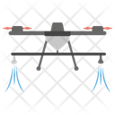 Drone Spray Spraying Field Water Spray Icon