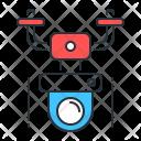Drone Surveillance Smart Icon
